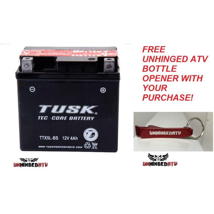 Premium Tusk Tec-Core Battery with Acid – Fits: Bombardie...