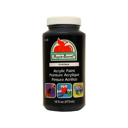 Apple Barrel Black Paint, 16 Fl. Oz. - Pint 16 Oz