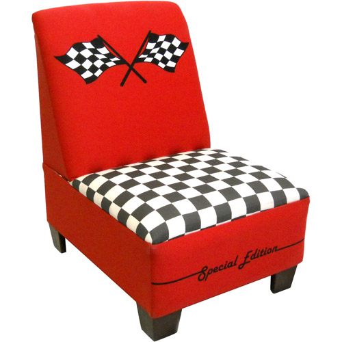 Race Car Toddler Armless Chair, Red