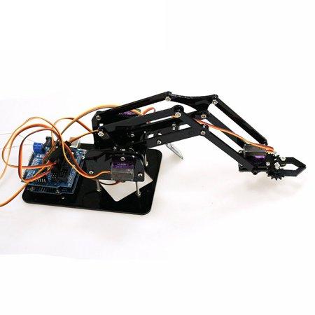 DIY Robot Hand Mechanical Arm Robotic Claw Controller Set Desktop DIY Kit  with 4pcs SG90 Servos for Arduino