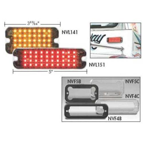 ECCO SLMINIA Warning Light, LED, Amber, Rect, 3-13/16 L G4832606