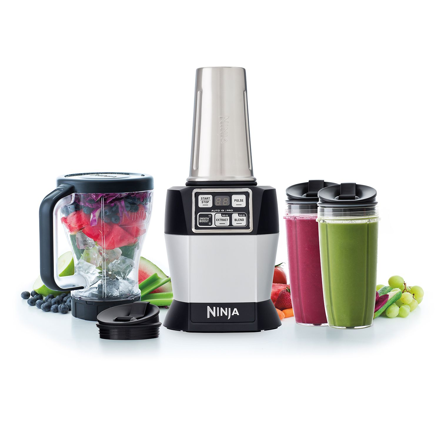 Nutri ninja blender system with auto iq technology - Nutri Ninja Auto Iq Pro 1100 Watt Complete Professional Blender With Smooth Boost New Open Box Walmart Com