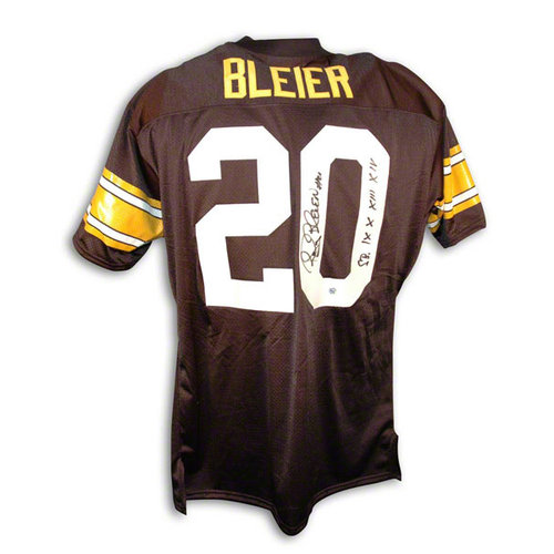 """NFL - Rocky Bleier Autographed Pittsburgh Steelers Black Throwback Jersey Inscribed """"SB IX X XIII XIV"""""""