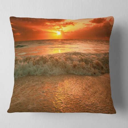 Admirable Design Art Designart Amazing Beauty Of Sun Reflection In Sea Seascape Throw Pillow Forskolin Free Trial Chair Design Images Forskolin Free Trialorg