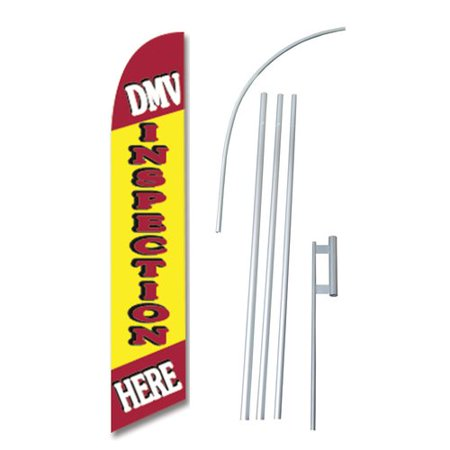 Neoplex Dmv Inspection Here Swooper Flag And Flagpole Set