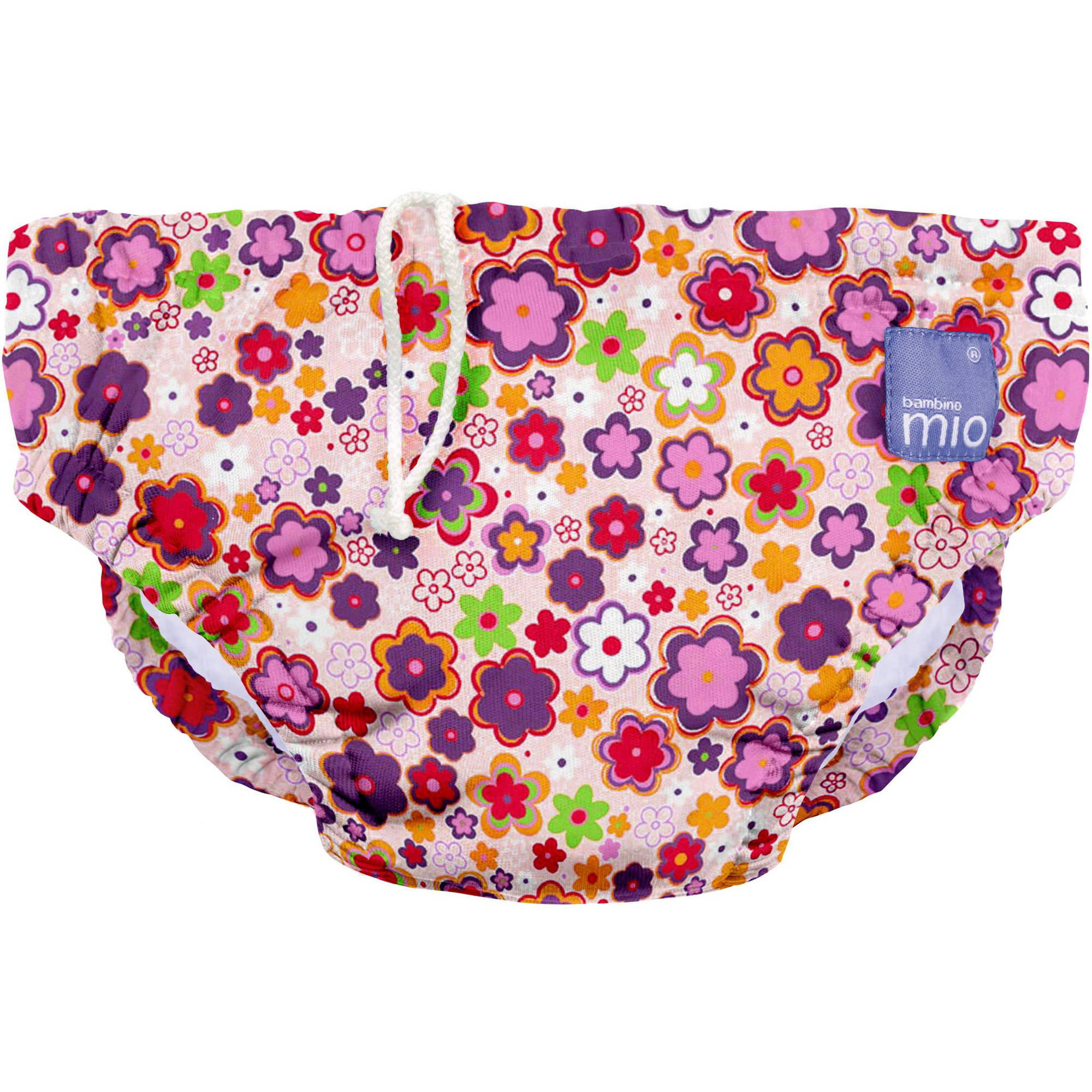 Bambino Mio Reusable Swim Diaper, Ditzy Floral, (Choose Your Size)