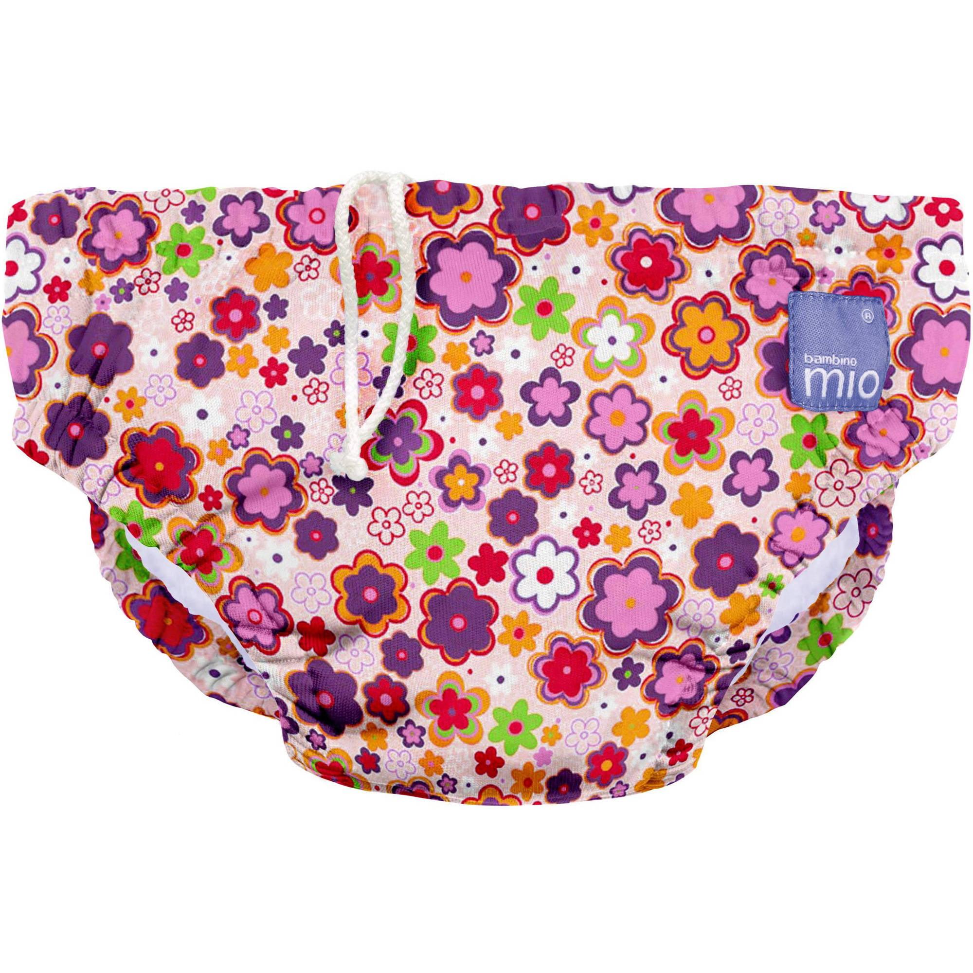 Bambino Mio Reusable Swim Diaper, Ditzy Floral, (Choose Your Size)