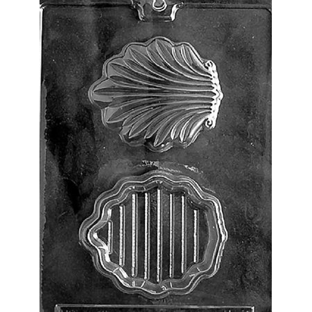 Grandmama's Goodies N037 Shell Pour Box Chocolate Candy Soap Mold with Exclusive Molding