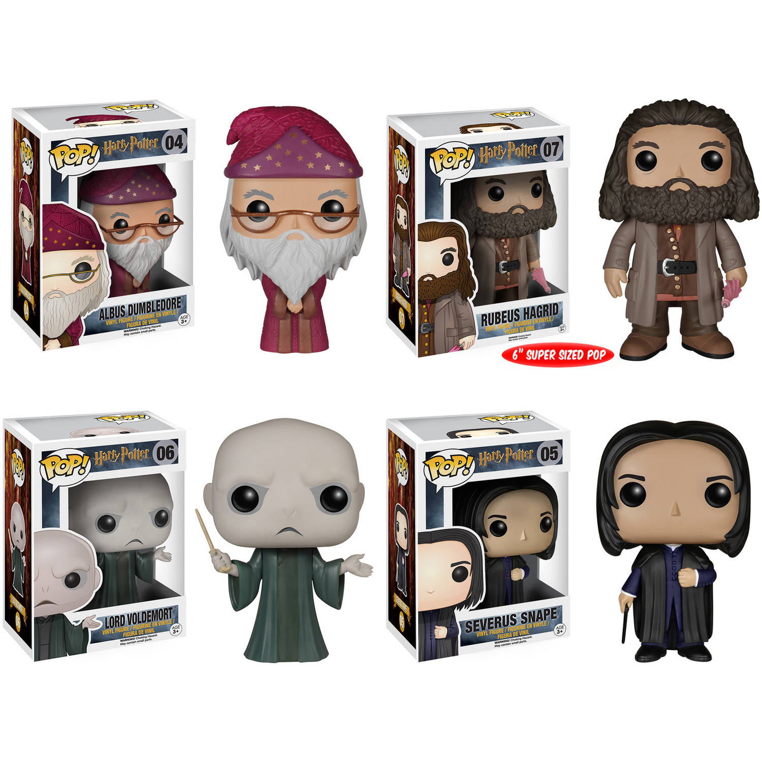 "Funko Harry Potter POP! Movie Vinyl Collectors Set: Albus Dumbledore, Rubeus Hagrid (6""), Lord Voldemort,... by Funko"