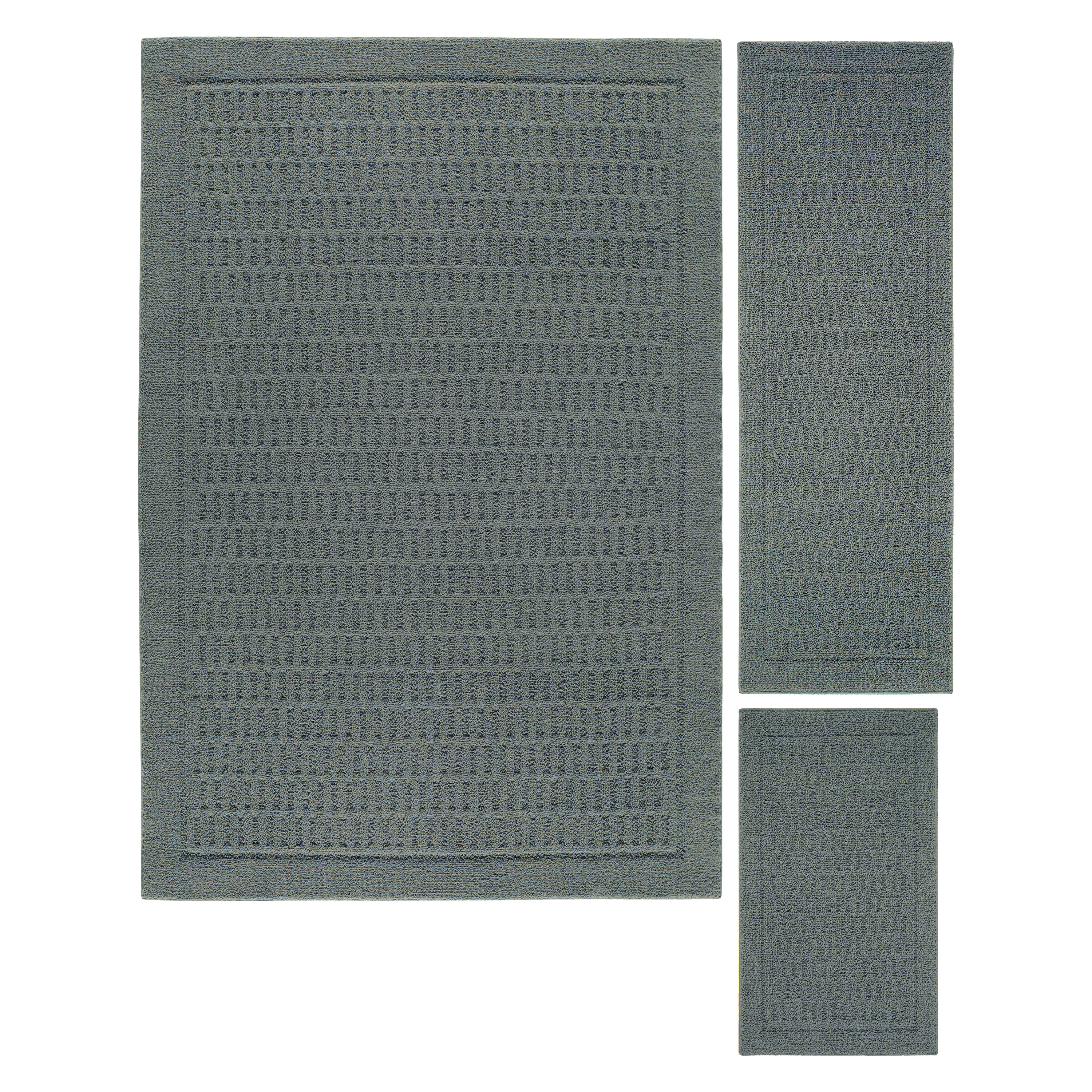 Mainstays Dylan Nylon 3-Piece 5'x7' Area Rug Set, Multiple Colors
