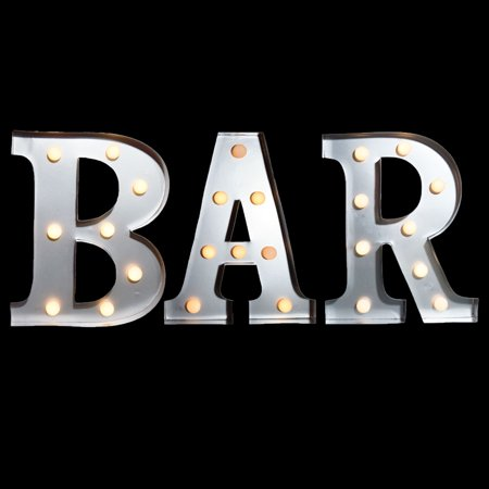 Marquee Light Bar Led Metal Sign 10 Inch Battery Operated
