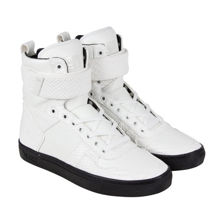 radii  radii vertex mens white leather high top lace up