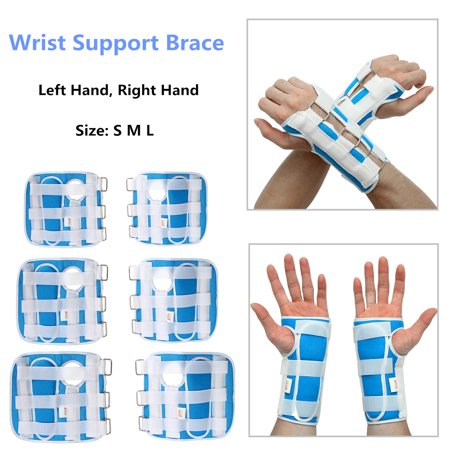 Breathable Medical Carpal Tunnel Wrist Brace Right and Left Hands Splint Support Arthritis Sprain Gym Hand Protector 3 Straps Adjustable Removable Aluminum (Understanding Carpal Tunnel)
