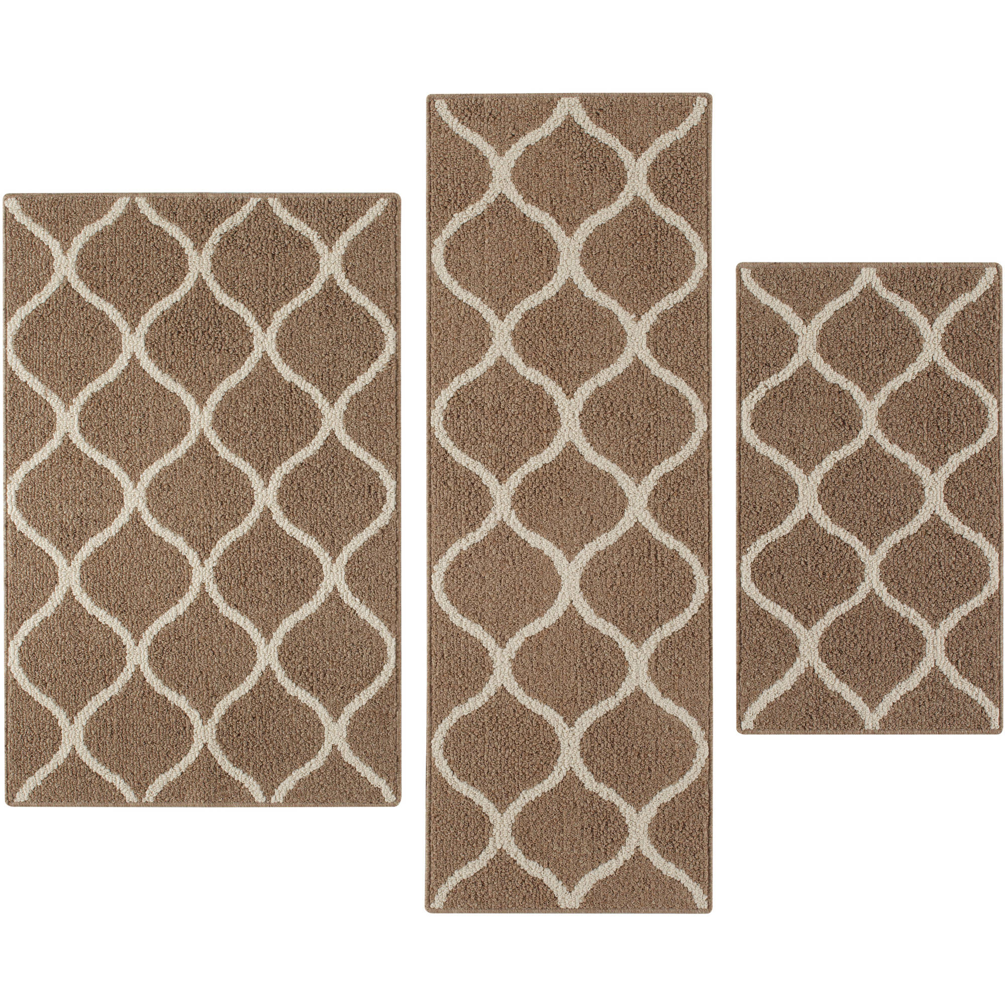 Mainstays Sheridan 3-Piece Accent Rug Set