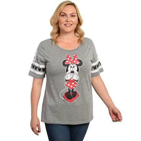 Juniors Plus Size Minnie Mouse Athletic T-Shirt Gray - Dead Minnie Mouse