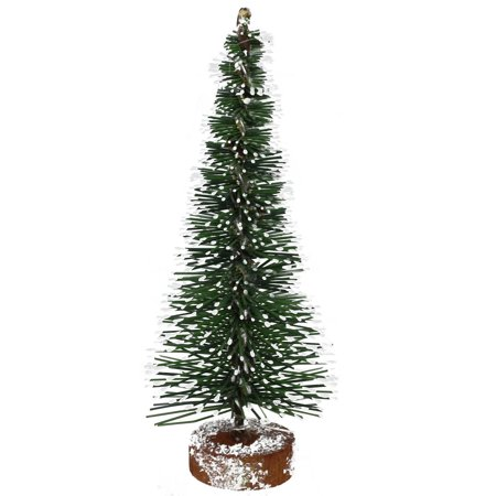 "5"" Frosted Green Mini Pine Artificial Village Christmas Tree - Unlit"