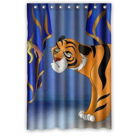 DEYOU Tiger Create Your Own Shower Curtain Polyester Fabric Bathroom Size 48x72 Inches