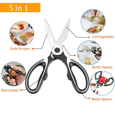 2 Pack Premium heavy duty Kitchen Shears - Ultra Sharp Stainless Steel Blades - Poultry Shears Multipurpose Scissors for Cutting Herbs, Meats, Poultry, Vegetables &