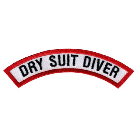 Dry Suit Diver Scuba Certification Chevron Embroidered Iron-On Patch