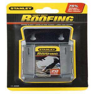 Stanley Roofing Knife Blade, High Carbon Tool Steel, 11-939A