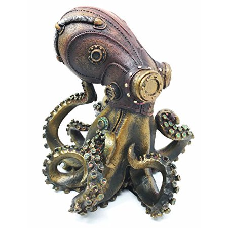 Steampunk Giant Kraken Octopus Marauder Military Deep Sea Unit Figurine Decor For Sci Fi Fantasy Lovers