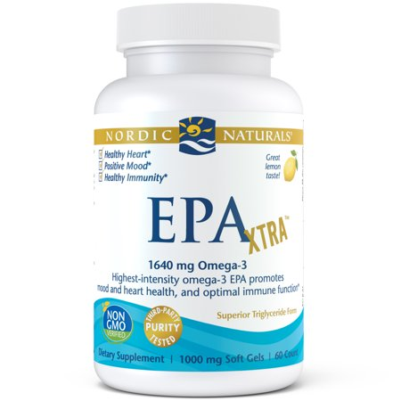 Nordic Naturals EPA Xtra Softgels, 1640 Mg, 60 - 15 Mg 180 Softgel