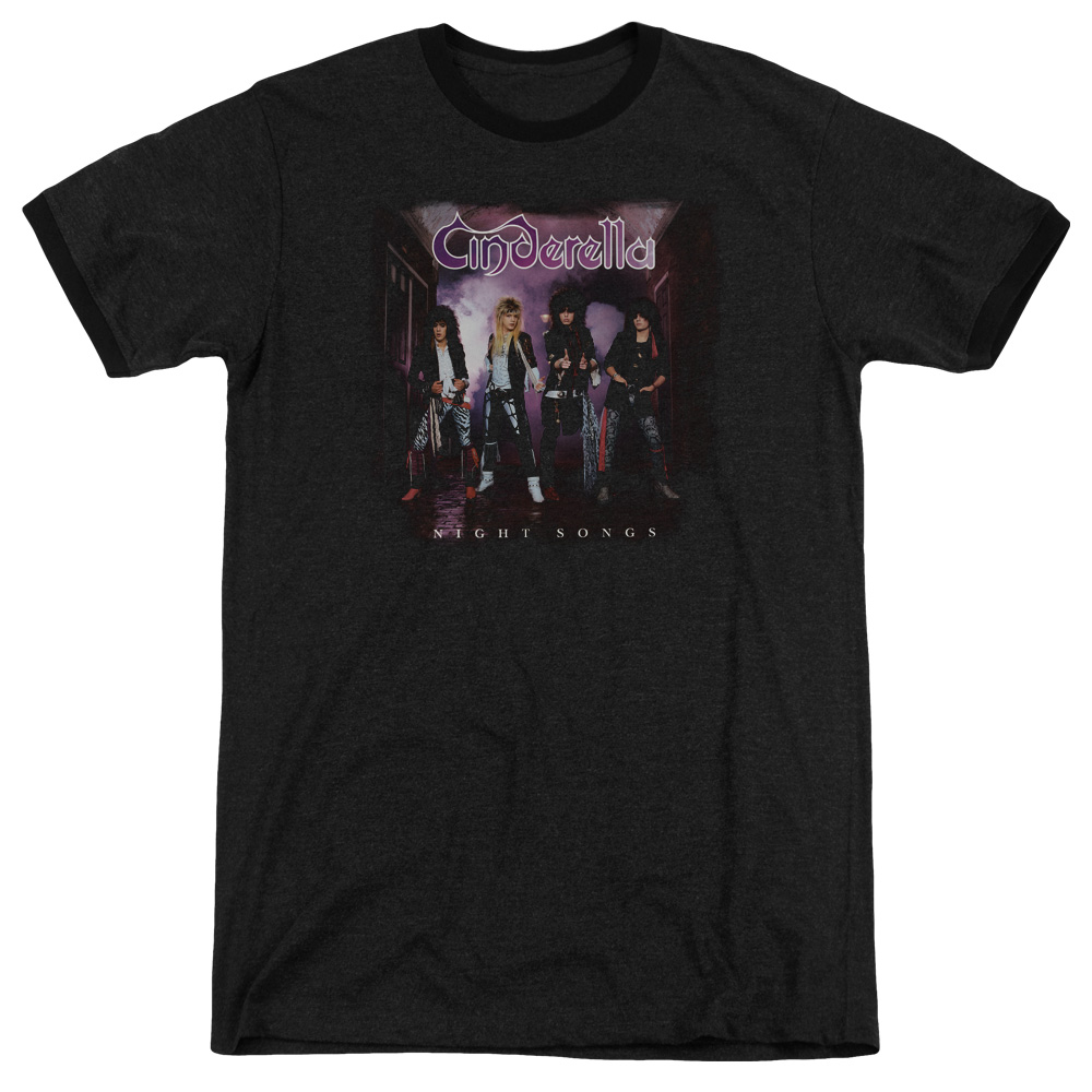 Cinderella Night Songs Mens Adult Heather Ringer Shirt