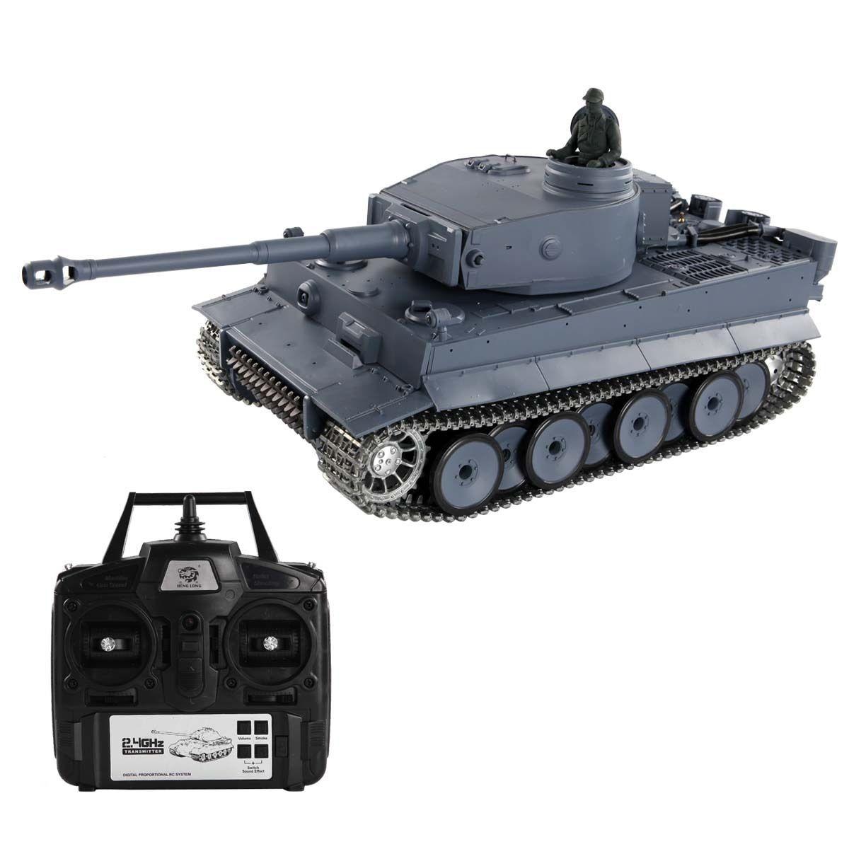 1:16 2.4G RC German Tiger l Tank Remote Control Smoke & S...