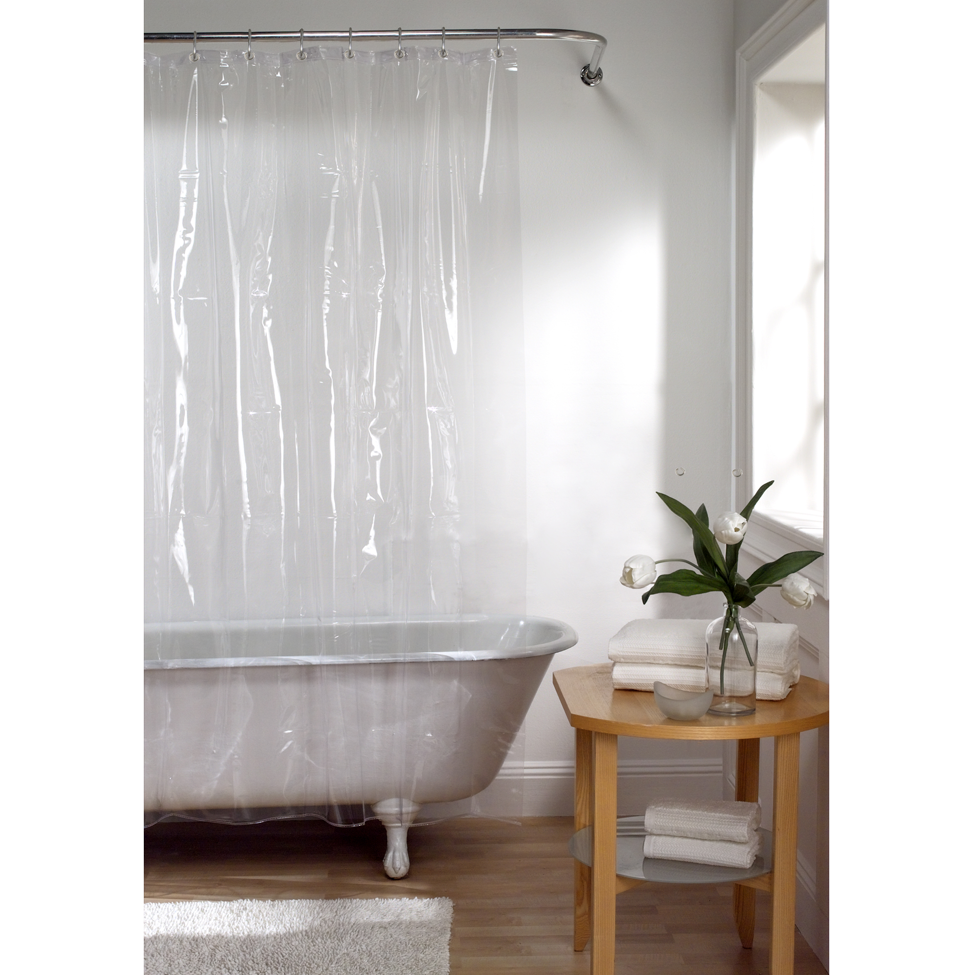 "Maytex Super Heavyweight Premium 10-Gauge Shower Curtain or Liner 72"" x 72"""
