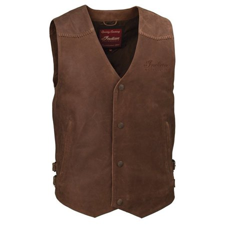 MEN'S INDIAN MOTORCYCLE LEATHER VEST - BROWN LEATHER - 2XL
