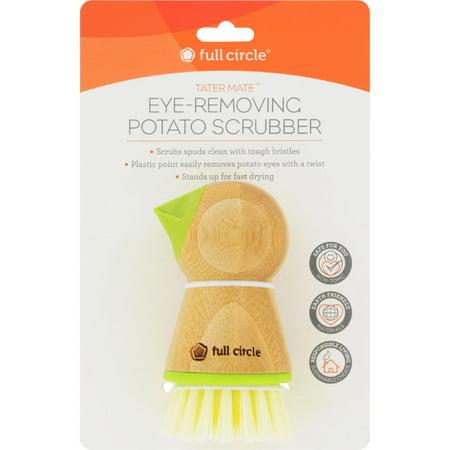 Potato Brush - Full Circle Home Tater Mate Potato Brush with Eye Remover - Case of 6