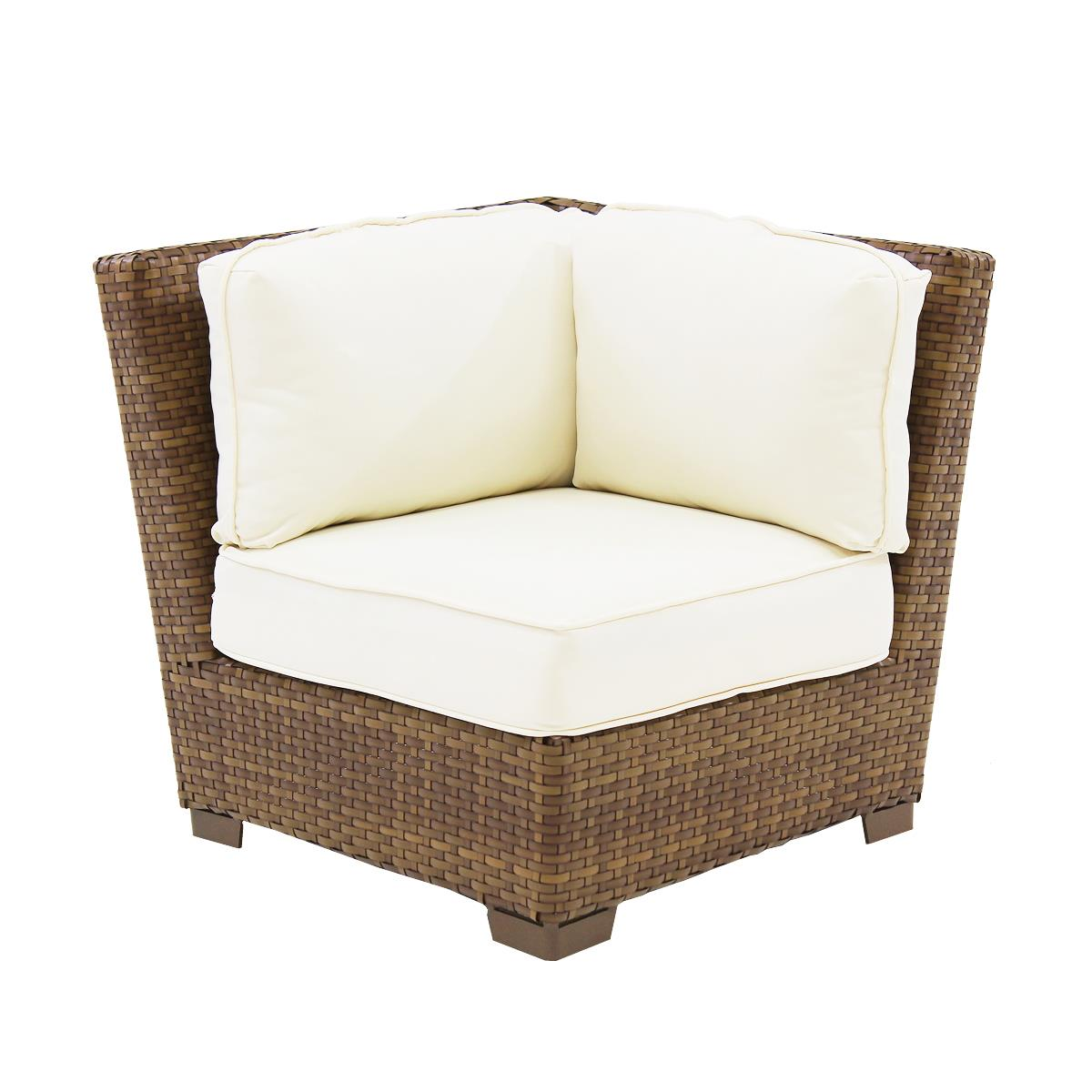 Panama Jack St Barths Modular Corner Chair with Cushion-Upholstery:Polyester