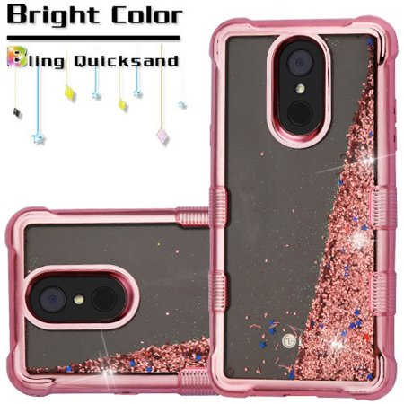 Electroplating Tuff Lite Quicksand Case for LG Stylo 4 / Stylo 4 Plus -  Rose Gold