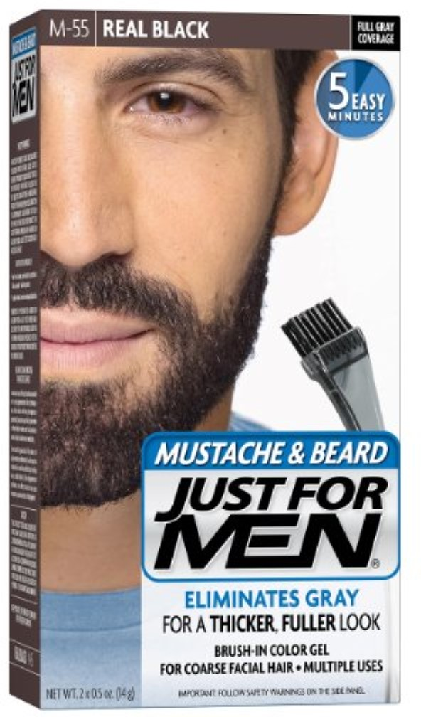 Just For Men Color Gel Mustache Beard M 55 Real Black 1 Each Pack