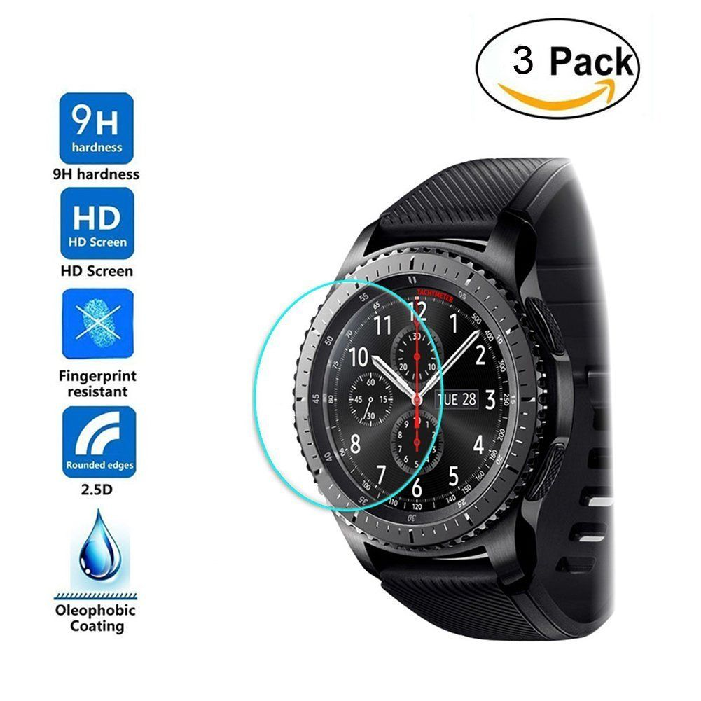 3 Pack For Samsung Galaxy Gear S3 Watch Premium Tempered Glass Screen Protector