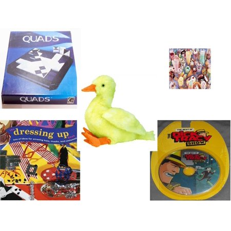 Children's Gift Bundle [5 Piece] -  Gigamic Quads  - I Love Ice Cream   - Ty Buddies Classic Quackie 11