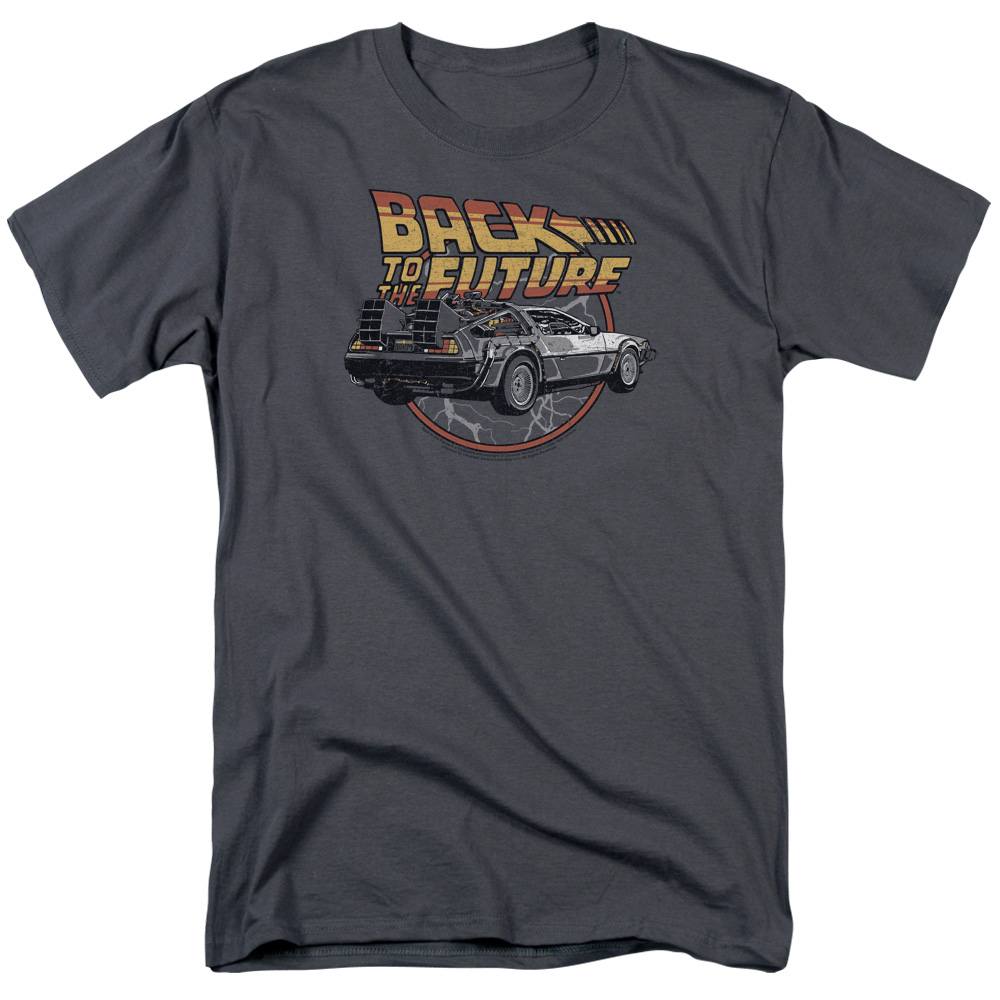 Back To The Future/Time Machine S/S Adult 18/1   Charcoal     Uni991