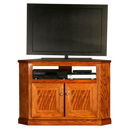 Eagle Furniture Classic Oak Customizable 46 in  Tall Corner TV Stand -  Walmart com