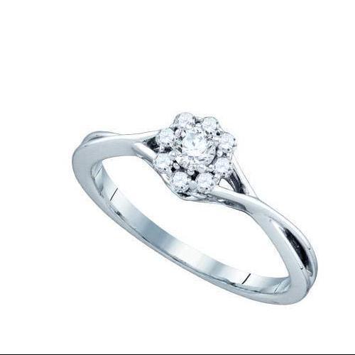 0.28Ct Diamond Bridal Womens Fixed Ring Size - 7