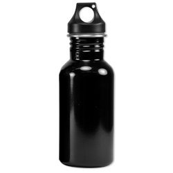 Eco-Friendly Wide Mouth 17 oz, 500 mL Stainless Steel Water Bottle - BPA Free, (Black Light Covers Stainless Accessories)