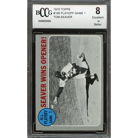 1970 Topps  195 Playoff Game 1 Tom Seaver New York Mets Bgs Bccg 8