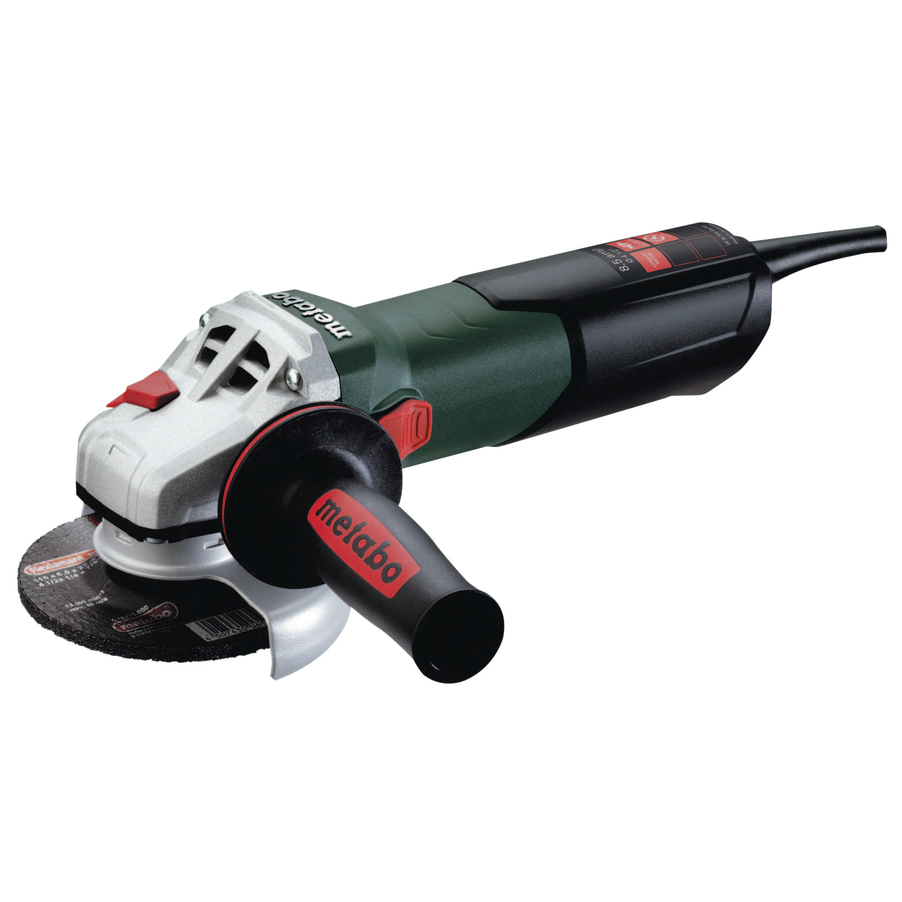 "Metabo 900 Watt 4 1/2"" Angle Grinders, 8.5 A, 10,500 rpm, Sliding Switch w/Lock"