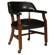 International Concepts Castor Dining Chair, Antique Cherry/Dark Brown