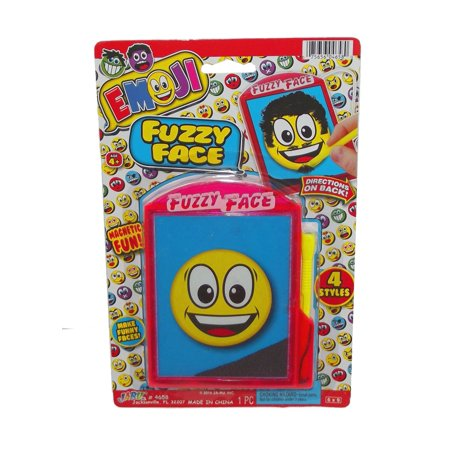 Emoji Fuzzy Face Wacky Hair Emoticon Funny Face-Happy