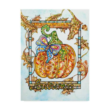 Trademark Fine Art 'Autumn Pumpkin' Canvas Art by Charlsie Kelly - Pumpkin Art
