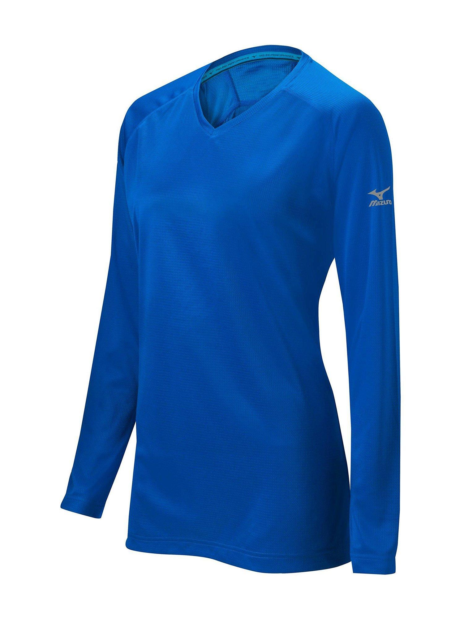 Mizuno Womens Softball Apparel - Mizuno Womens Comp Long Sleeve Training  Shirt - 350587