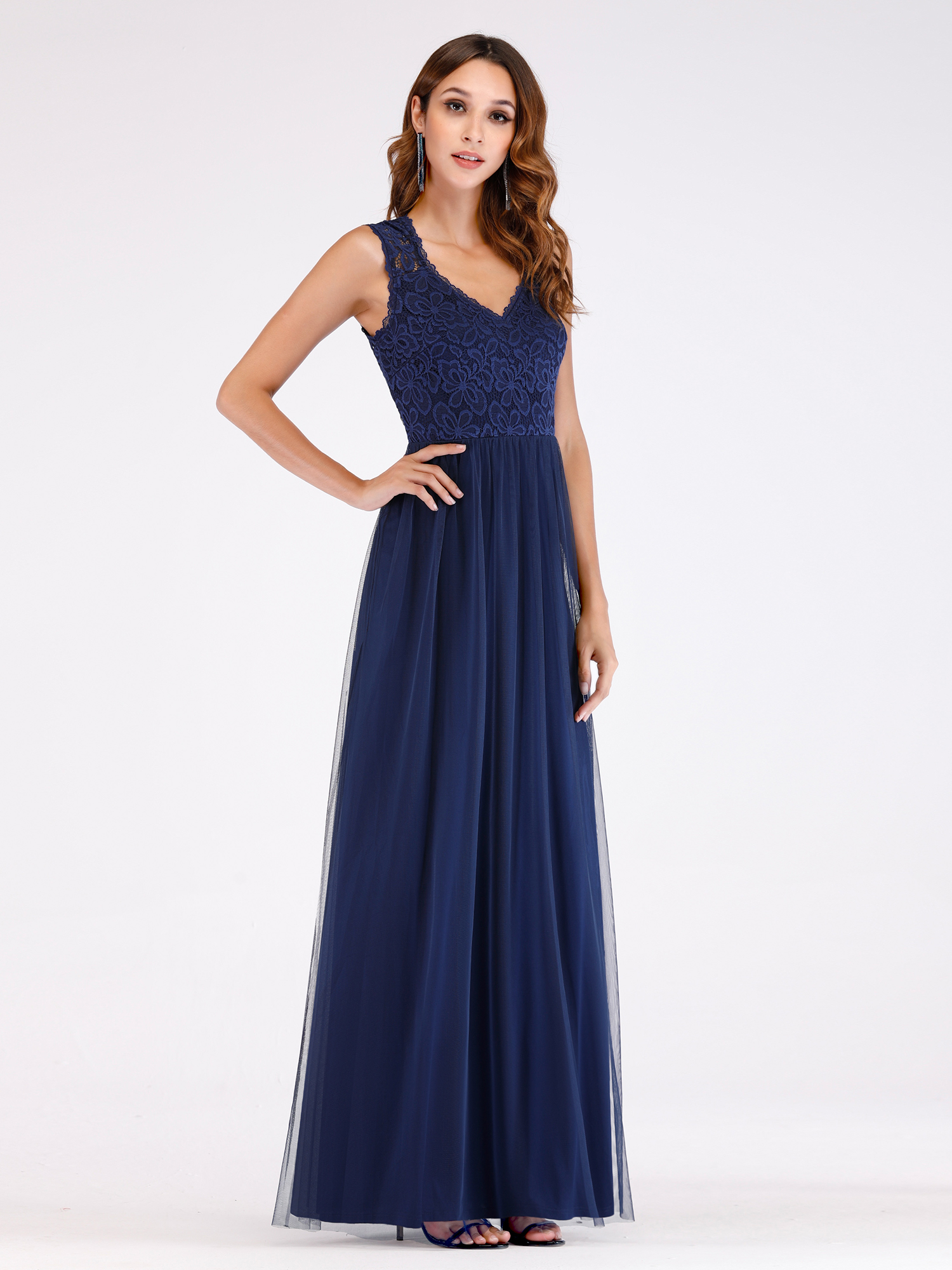 af17027960ad Ever-pretty - Ever-Pretty Womens Elegant Floral Lace Long Maxi Prom Dance Party  Dresses for Women 07509 Navy Blue US8 - Walmart.com