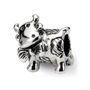 Sterling Silver Dairy Cow Bead Charm