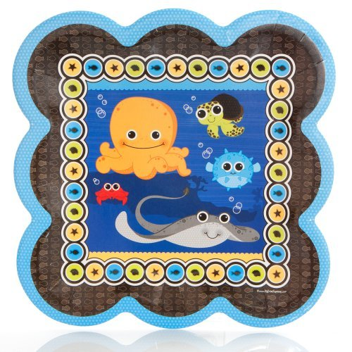 Under The Sea Critters - Party Dinner Plates (8 count)