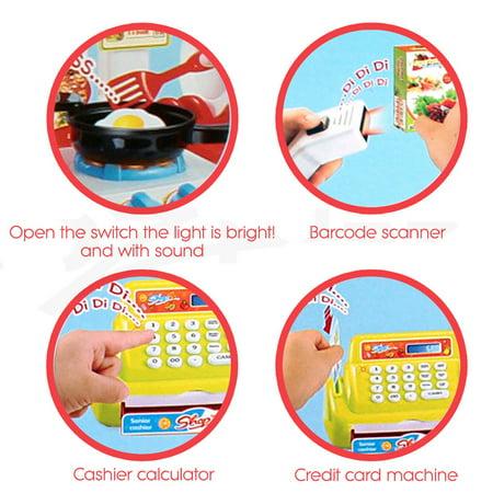 Christmas Present Scanner.59pcs Supermarket Pretending Toy Set Role Playing Education
